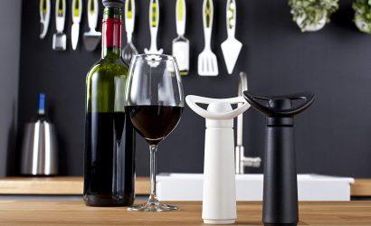 Pompes à Vin - Vacu Vin - blanc et noire